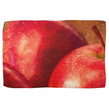 Three Red Apples Kitchen Towels