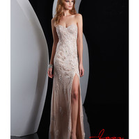 (PRE-ORDER) Jasz Couture 2014 Prom Dresses - Ivory & Pink Strapless Sweetheart Prom Gown