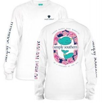 *Closeout* Simply Southern Long Sleeve Tees- NARHWAL