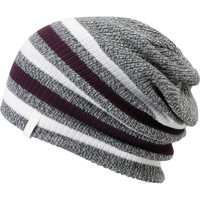 Empyre Girls Zodiac Grey & Purple Stripe Beanie