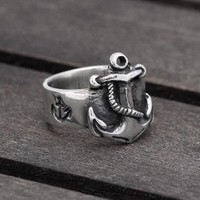 Anchor ring in Sterling Silver FIRST MATE by SilverBeyondOrdinary
