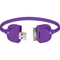 UBER 13167 Lock & Go Bracelet-Style 30-Pin Charge & Sync Cable, 7 (Purple)