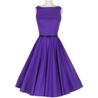 Vintage 50s Comfortable Purple Dress
