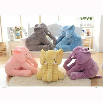 40 Cm Baby Crib Elephant Plush Toy 5 Colors Option Stuffed Elephant Pillow Newborn Cushion Doll Bedding For Adults Kids Toys