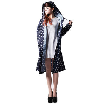 Vintage Raincoat - Over Knee With Hood