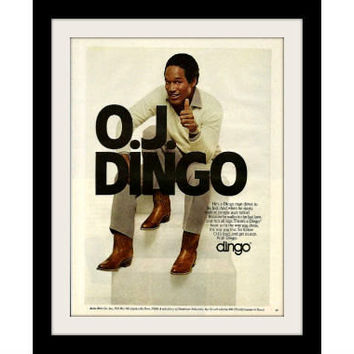"1981 Dingo Boots Ad ""OJ Simpson"" Vintage Advertisement Print"
