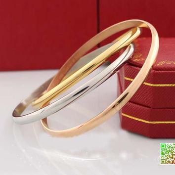 FREE SHIPPING / Cartier eternal LOVE bracelet, 18 k rose color Jin Sanhuan Love bracel