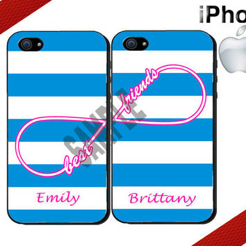 ON SALE SPECIAL -Best Friends Infinity iPhone Case- Personalized iPhone 5 Case or iPhone 4 Case - Two Case Set