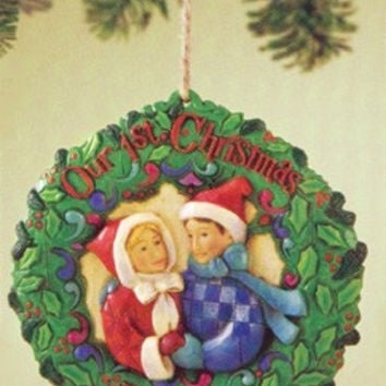 Jim Shore Ornament First Christmas Together-4011066
