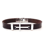 Cross leather bracelet, Faith bracelet, Men's bracelet, Mens Jewelry, Cross bracelet, Stylish bracelet, Gift for Him, tribal bracelet