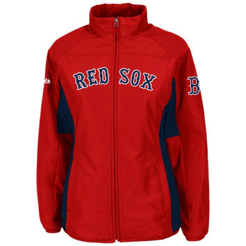 Majestic Boston Red Sox Youth AC Double Climate Full Zip Jacket - Red - http://www.shareasale.com/m-pr.cfm?merchantID=7124&userID=1042934&productID=523471123 / Boston Red Sox