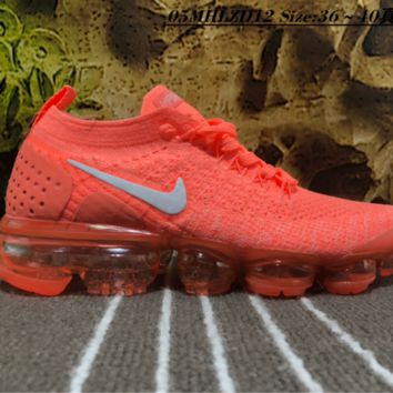Nike Air Vapor Max Plyknit 2018 Causal Running Shoes Orange