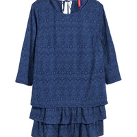 H&M - Patterned Dress - Dark blue/patterned - Ladies