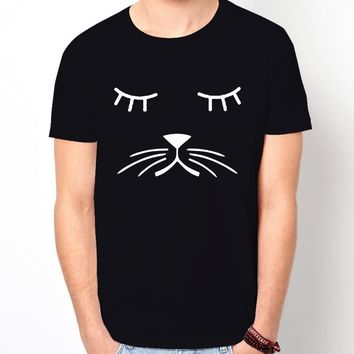 Whiskers Cat FACE T-Shirt