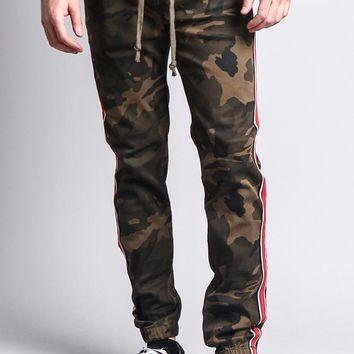 Men's Track Style Side Striped Joggers JG3006 - FF12C