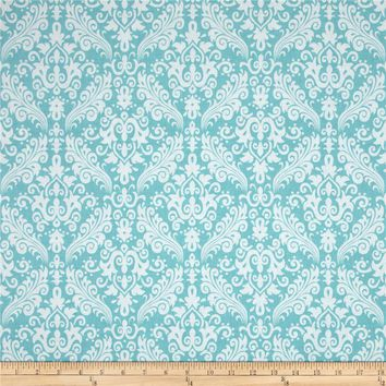 Riley Blake Medium Damask Aqua