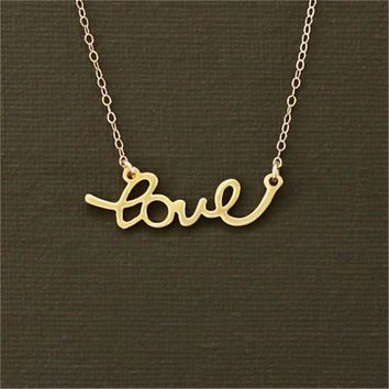 Cute Love Letter Necklace Tiny Heart Necklace Sweet Love Necklace In Gold And Silver Gift For Wedding Gift For Girlfriend