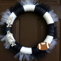 Penn State Wreath Tulle for Front Door PSU Football Nittany Lions