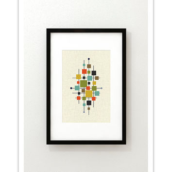 AREA - Giclee Print - Mid Century Modern Danish Modern Minimalist Cubist Modernist Abstract Eames