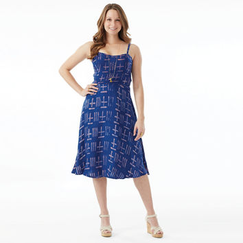 Della Blue Triton Empire Dress Blue