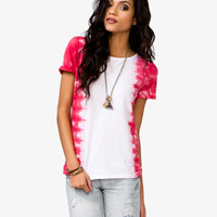 Zippered Tie-Dye Tee