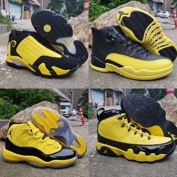Air Jordan 9 11 12 14 Retro Black Yellow Bumblebee Pack - Best Deal Online