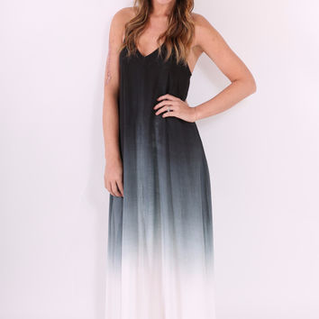 Ombre Maxi Dress - Grey