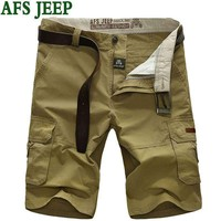 Afs Jeep Summer Men Leisure Famous Brand Casual Short Male Quick-Drying Mens Shorts Cotton Clothing Large Size 65