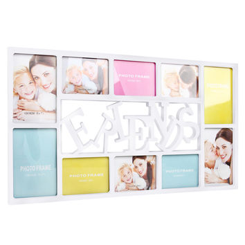 Set 10 in 1 FRIEND Photo Collage Frame White