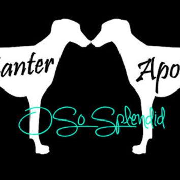 Greyhound Car Decals Silhouette - Personalized Dog - You choose color & custom text