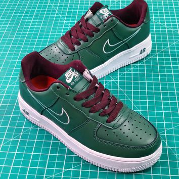 Nike Air Force 1 Af1 Low Hong Kong Dark Forest Green 845053-300 2018 Retro Sport Shoes - Best Online Sale