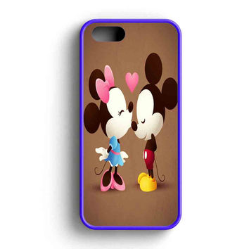 Mickey And Minnie Mouse Love Kissing  iPhone 5 Case iPhone 5s Case iPhone 5c Case