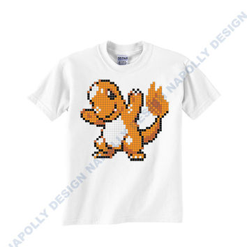 nintendo pokemon gamers charmander cards 8 bit Custom Tshirt for men's,T shirt Cotton,Funny T shirt,Awesome T shirt,best design and clothing