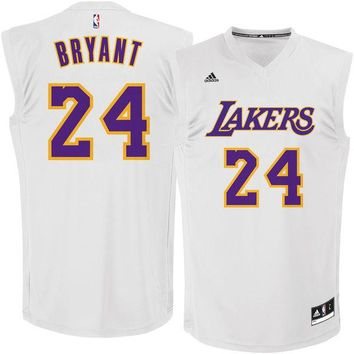 Men's Los Angeles Lakers Kobe Bryant adidas White Chase Fashion Replica Jersey