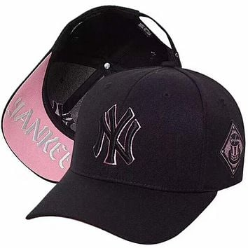 MLB 2018 new summer cover NY hat men and women cap F-XMCP-YC pink
