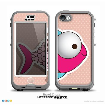The Colorful Vector Big-Eyed Fish Skin for the iPhone 5c nüüd LifeProof Case
