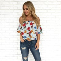 Weekend Getaway Floral Top