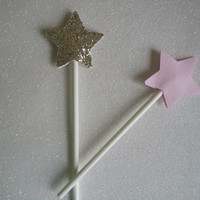 pink and gold cupcake toppers / first birthday / 1st birthday party baby girl / pink and gold glitter stars