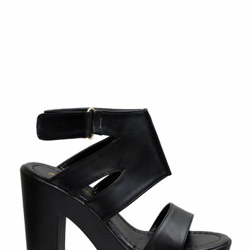(ame) Not really lug strappy chunky heels