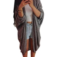 Spring Women Three Quarter Sleeve Knitted Cardigan Lady Outerwear Casual Coat Cardigan Jacket Plus Size