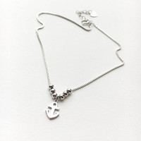 Anchor Anklet • Anchor Anklet for Woman • Sterling Silver Anklet • Nautical Jewelry • Nautical Wedding • Bridesmaid Anklet • Silver Anklet