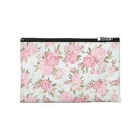 Floral Vintage Travel Accessories Bag from Zazzle.com