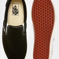 Vans Classic Black Slip On Trainers