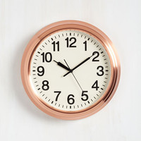 Dorm Decor Copper the Morning to Ya Clock by ModCloth