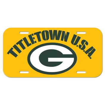 NFL Green Bay Packers License Plate