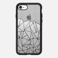 Abstract Grid Outline Black Transparent iPhone 7 Case by Project M | Casetify
