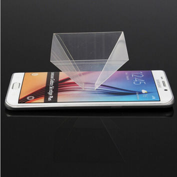 Portable Accessory Stand 3D Holographic Display Pyramid Projector for Most Smart Phone