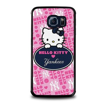 HELLO KITTY NEW YORK YANKEES Samsung Galaxy S6 Edge Case Cover