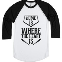 Home Is Where The Heart Is (Vintage)-Unisex White/Black T-Shirt