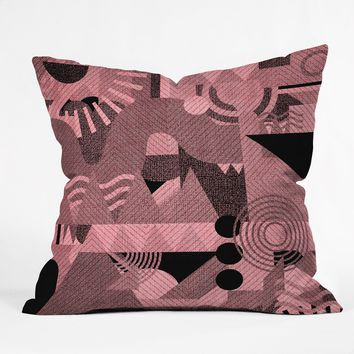 Nick Nelson Lost Frequencies In Pink Throw Pillow